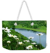 White Daisies At Queen's View 2 Weekender Tote Bag
