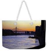 Queensboro Bridge At Night - Manhattan Weekender Tote Bag