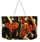 Question Mark Butterfly Weekender Tote Bag