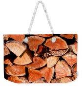 Quick Trick Wood Stack Weekender Tote Bag