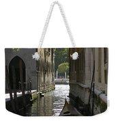 Quiet Canal In Venice Weekender Tote Bag