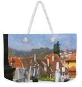 Quiet Neighbors Weekender Tote Bag