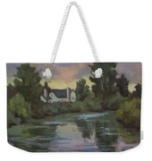 Quiet Reflections Duwamish River Weekender Tote Bag