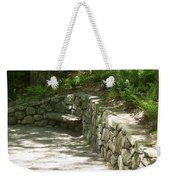 Bench In A Stone Wall Weekender Tote Bag