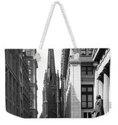 Quiet Sunday On Wall Street Weekender Tote Bag