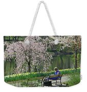 Quiet Time Among The Cherry Blossoms Weekender Tote Bag