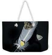 Quill With Butterflies Weekender Tote Bag
