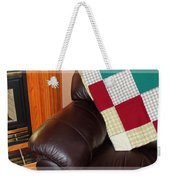 Quilt Beside A Fireplace Weekender Tote Bag