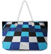 Quilt Blue Blocks Weekender Tote Bag