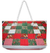 Quilt Christmas Blocks Weekender Tote Bag