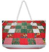 Quilt Christmas Blocks Weekender Tote Bag by Barbara Griffin