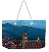 Quito Basilica At Night Weekender Tote Bag