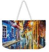 Quito Ecuador - Palette Knife Oil Painting On Canvas By Leonid Afremov Weekender Tote Bag