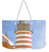 Quoddy Lighthouse Lubec Maine Weekender Tote Bag