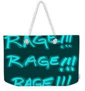 R R R Turquoise Weekender Tote Bag