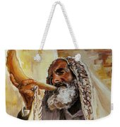 Rabbi Blowing Shofar Weekender Tote Bag