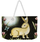 Rabbit And The Butterfly . . . From The Tapestry Series Weekender Tote Bag