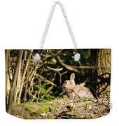 Rabbit In The Woods Weekender Tote Bag