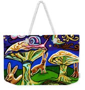Rabbits At Night Weekender Tote Bag