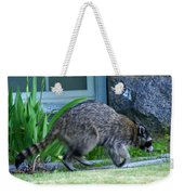 Raccoon In Flight Weekender Tote Bag