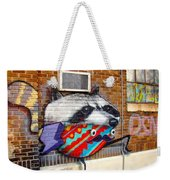 Raccoon On The Wall Weekender Tote Bag