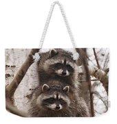Raccoon Siblings Weekender Tote Bag