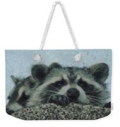 Raccoons Painterly Weekender Tote Bag