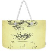 Race Car Track With Race Car Retaining Means Patent 1968 Weekender Tote Bag