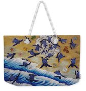Race For Survivor Hand Embroidery Weekender Tote Bag