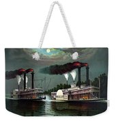 Race Of The Steamers Robert E Lee And Natchez Weekender Tote Bag