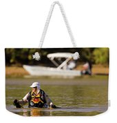 Racer Wading Across A River In An Weekender Tote Bag