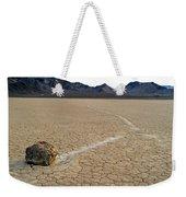 Racetrack Sailing Rocks Death Valley National Park Weekender Tote Bag