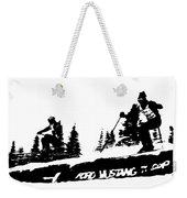 Racing Over The Ski Jump Weekender Tote Bag