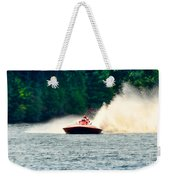 Racing Speed Boat Weekender Tote Bag