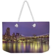 Radiant City Weekender Tote Bag by Evelina Kremsdorf