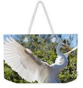 Radiant Great Egret Weekender Tote Bag