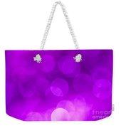 Radiant Orchid Bokeh Weekender Tote Bag