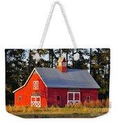 Radiant Red Barn Weekender Tote Bag