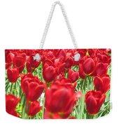 Radiant Red Weekender Tote Bag