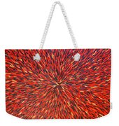 Radiation Red  Weekender Tote Bag