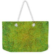 Radiation With Green Yellow And Orange  Weekender Tote Bag