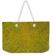Radiation With Yellow Green And Red Weekender Tote Bag