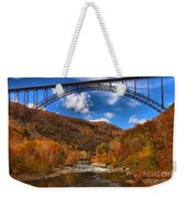Rafting Down The New River Gorge Weekender Tote Bag