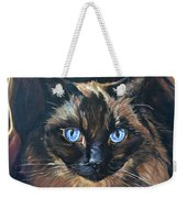 Cat Painting. Ragdoll Cat The Cat's In The Bag Weekender Tote Bag