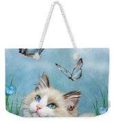 Ragdoll Kitty And Butterflies Weekender Tote Bag