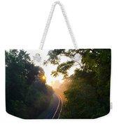 Rail Road Sunrise Weekender Tote Bag
