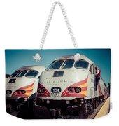 Rail Runner Twins Weekender Tote Bag