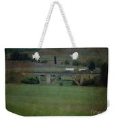 Railroad Bridge At Rosalia Texture Weekender Tote Bag