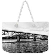 Railroad Bridge Over The Schuylkill River In Norristown Weekender Tote Bag