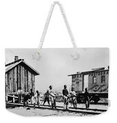 Railroad Chinese Workers Weekender Tote Bag